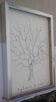 guest book fingerprint tree (Etsy- Bleu de Toi) - this is for a wedding, but great idea for ANY party