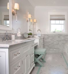 nice Bathroom Cabinet with two sinks and vanity in the center. Vanity cabinet…...