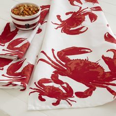 Crab Dish Towel from Wayfair This dish towel features a pattern of crabs that will fit right in with your summer entertaining plans or coastal kitchen.