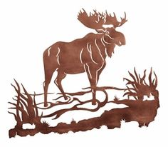 Moose Metal Wall Art
