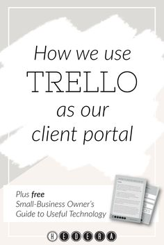 How we use Trello as our client portal