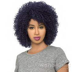 The Wig Brazilian Human Hair Blend Wig - HH AFRO JERRY [11410]