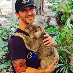 Sully and a koala!