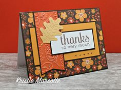 Diy Thanksgiving Cards, Holiday Cards, Thanksgiving Drinks, Handmade Thank You Cards, Greeting Cards Handmade, Handmade Fall Cards, Karten Diy, Leaf Cards, Cricut Cards