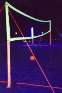 Glow-in-the-Dark Volleyball Court.  NEED THIS!