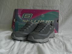 2947eb7519a9d5 Skechers Sport D amp  039 lites Shoes Ladies 7.5 Slide On Gray Nocturnal New