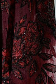 Beaded Couture Details ~ Burgundy