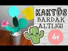 Kaktüs Bardak Altlığı / KENDİN YAP/ DIY Cactus Coasters - YouTube