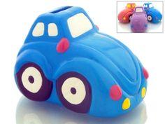 Hucha Infantil coche de ceramica para detalle regalo niños #Grandetalles