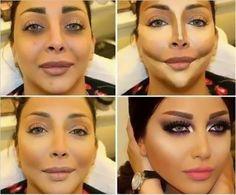 Makeup Tutorial Contouring And Highlighting Round Face – Mugeek Vidalondon – Make Up Arts Contouring Makeup, Contouring And Highlighting, Skin Makeup, Contouring Guide, Contouring Round Face, Arab Makeup, Round Face Makeup, Beauty Make-up, Beauty Hacks