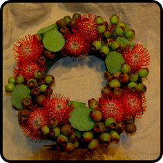 Pin Cushion + Pods Wreath