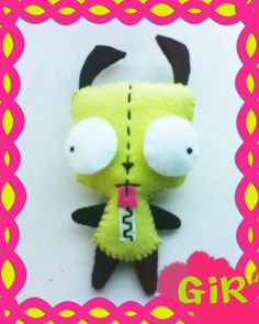 Gir from Invader Zim DIY Plushie! So Cute!