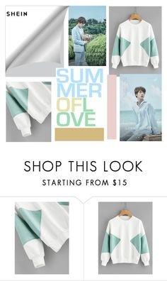 """""""Aqua for Jin BTS"""" by toscarendezvous on Polyvore featuring men's fashion and menswear"""