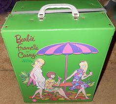 60s Mattel Francie and Casey Green Vinyl Doll Trunk Barbie's Mod Cousin   eBay