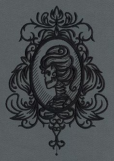 Gothic Gala - Skull Cameo | Urban Threads: Unique and Awesome Embroidery Designs