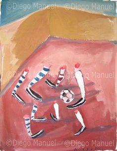 Potrero, gouache, 30 x 24 cm. 2005, Price of original painting: us$200
