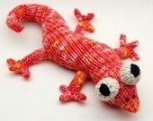 Eddie Lizzard Amigurumi Plush Toy Knitting Pattern.  via Etsy.