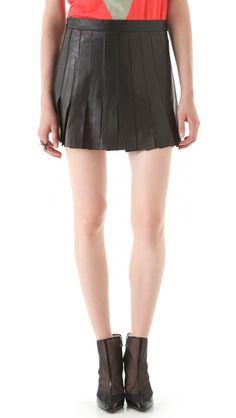 AIKO Blythe Leather Skirt - so cute