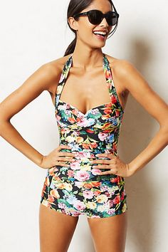 Seafolly Summer Garden Boyleg Maillot #AnthroFave