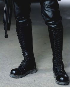 Black Combat Boots, Tall Boots, Knee High Boots, Shoe Boots, Leather Men, Leather Boots, Skinhead Boots, Unisex Fashion, Mens Fashion