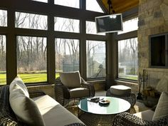 sunrooms with fireplaces | Gallery of 30 Inspirational Sunroom Design Ideas