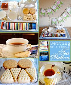 Set Up a Simple Tea Station | Super sweet ways to put together a station of YUM!  AND, free printable TEA TIME banner! #AmericasTea, #shop, ...