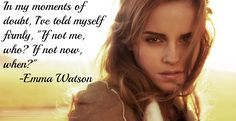 These Emma Watson quotes prove that the young UN Women Global Goodwill Ambassador kicks booty at this whole feminist thing — and I dig it. Emma Watson Fan, Emma Watson Quotes, Harry Potter Puns, Harry Potter Cast, Girl Power Quotes, Girl Quotes, Text Jokes, Feminist Quotes, Daily Inspiration Quotes