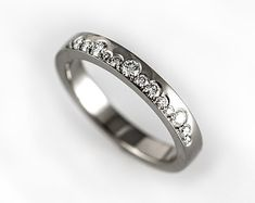 Unique engagement ring simple wedding band modern by KorusDesign