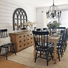 Boho Dining Room Decor - What color goes with GREY living room? Boho Dining Room Decor - Should ever. Dining Room Design, Dining Room Furniture, Dining Room Table, Dining Area, Room Chairs, Country Furniture, House Furniture, Sweet Home, Country Dining Rooms
