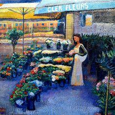 Cler Paris Flower Market Woman Buying by MoniqueKenSarkessian