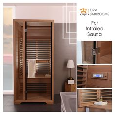 CRW BATHROOMS sauna for one person AL0023, packed in one package for easy installation