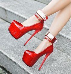 16CM Stilettos Sexy Womens Platform Sandals Night club Shoes Ankle Buckle Pumps  | Clothing, Shoes & Accessories, Women's Shoes, Heels | eBay! #Clubdresses