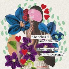 ¿Cuántas veces te dijiste #tqm hoy? 💖 #MEOWTTITUDE Arte x @la.amarillista ⚡️ Magazine Collage, Life Philosophy, Mo S, Self Love Quotes, Collage Art, Quote Collage, Love You, Inspirational Quotes, Lettering