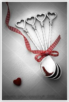heart spoons, cute!
