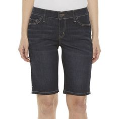 Modest Shorts, Liz Claiborne, Stretches, Bermuda Shorts, Product Description, Sheik, Cotton, Blue, Urban