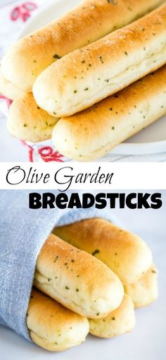 bread recipes Olive Garden Breadsticks - make your favorite Olive Garden bread sticks right in your own kitchen! These super soft, tender, buttery and garliky breadsticks will go with all your favorite soups, pastas and just about anything else. Best Bread Recipe, Easy Bread Recipes, Cooking Recipes, Soft Bread Sticks Recipe, Italian Bread Sticks, Chicken Recipes, Baked Chicken, Recipe Spice, Salads