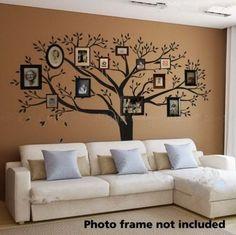 Tree Sticker Wall Decor amazon - family tree wall decal (chestnut brown, standard size