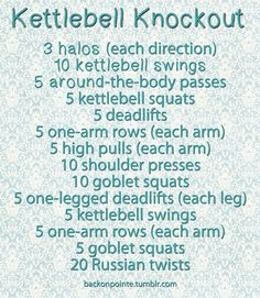 Kettlebell Knockout!