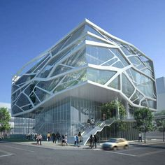Cracked Glassitecture: The South Korea Gimpo Art Hall by Gansam Partners