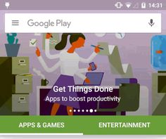 Google Play Store redesign #ux #ui #android
