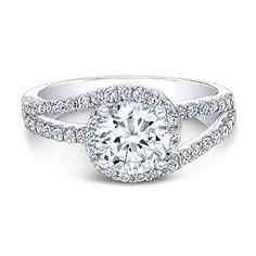 18k+White+Gold+Spiral+Halo+Engagement+Ring++-+18k+White+Gold+Spiral+Halo+Engagement+Ring+