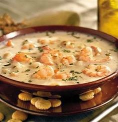 Recipe For Quick Shrimp Chowder - We've streamlined this favorite creamy shrimp chowder by using canned soup as the base.