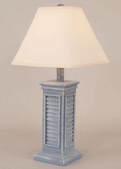 Blue Shutter Table Lamp