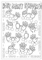 English worksheet: Numbers from 1 to 10