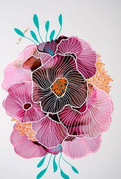Danish artist specialising in original alcohol ink art. original art for sale