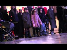 ▶ Santa Claus dogs ride scooter in Town - YouTube