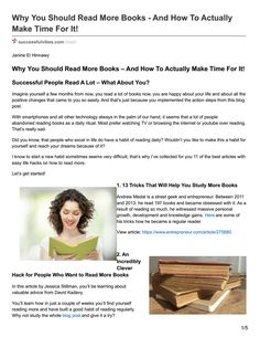 Why You Should Read More Books – And How To Actually Make Time For It!