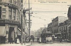 Lawrence Boulevard, Montreal, QC, about 1910 Neurdein Frères… Old Montreal, Montreal Ville, Montreal Quebec, Saint Laurent, Montreal Architecture, St Lawrence, Visit Canada, Paris, Vintage Photographs