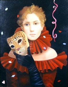 Carnival Cat, 2004  by Lizzie Riches