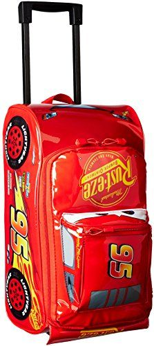 7265c06f0d6c Disney Boys' Cars 3 Lightning Mcqueen Molded Rolling Luggage ...